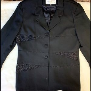 ALBERT NIPON EVENING BLACK Blazer Beaded Jacket
